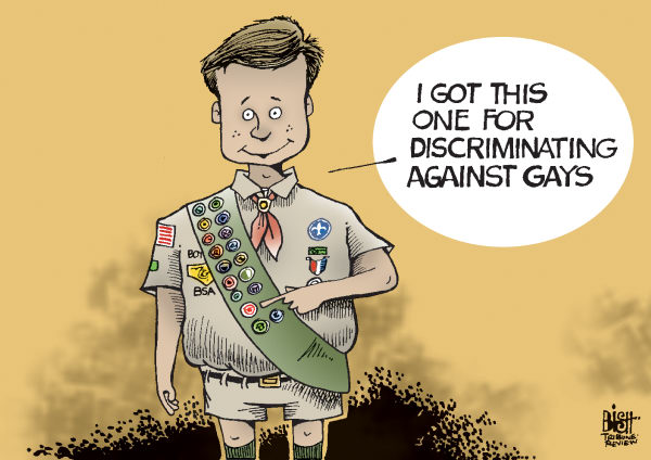 Boy Scout Discrimination Comic