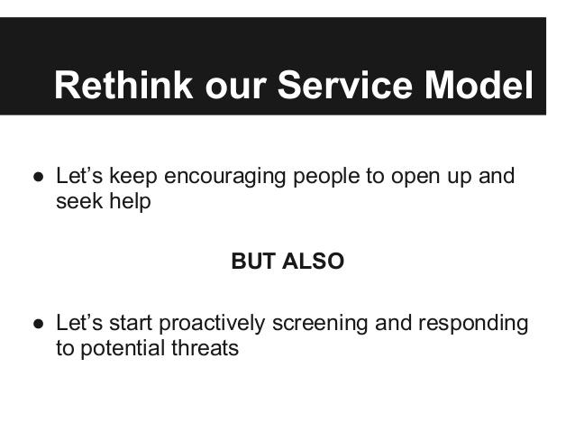 Rethink Our Service Model