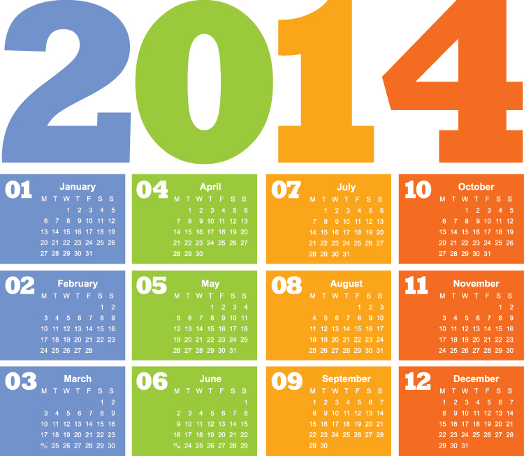 Calendar 2014 Wallpaper