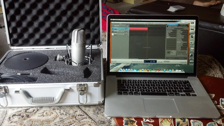 Bill Brenner's podcasting equipment