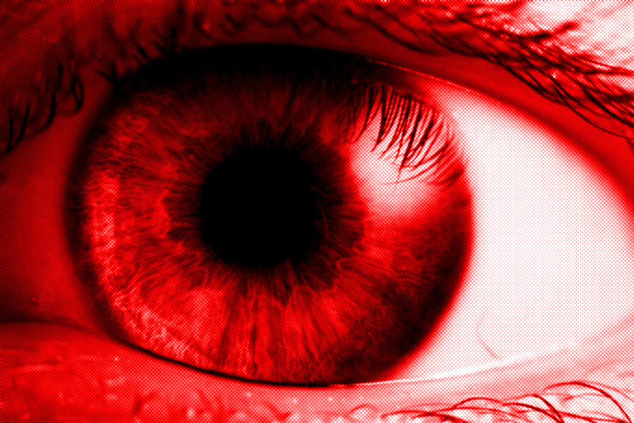 how to make your eyes red for a whole day