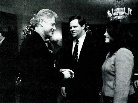Bill Clinton and Monica Lewinsky shake hands