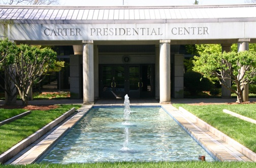 The Carter Center and reflecting pool