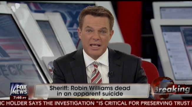 screen shot of Fox News anchor Shepard Smith