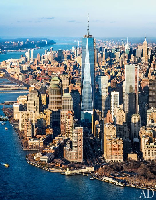 one world trade center aerial shot