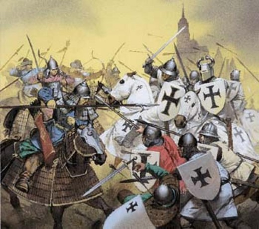 Battle between Crusades and Mongols