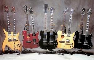 Double-neck guitars
