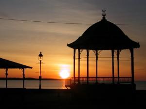 Revere Beach Gazebo at Sunrise